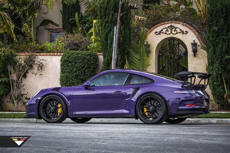 Purple Vorsteiner Porsche 911 Gt3 Rs Cars Modified