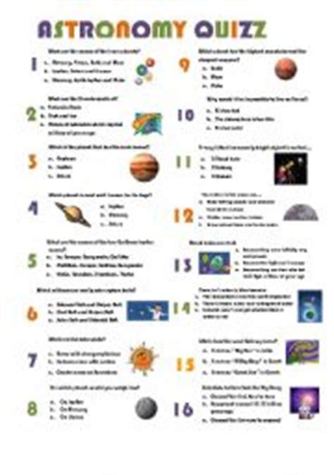English Worksheet Astronomy Quizz