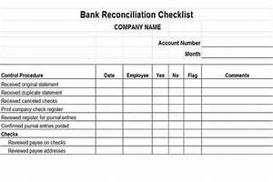 financial reporting controls vitalics With document checklist bank