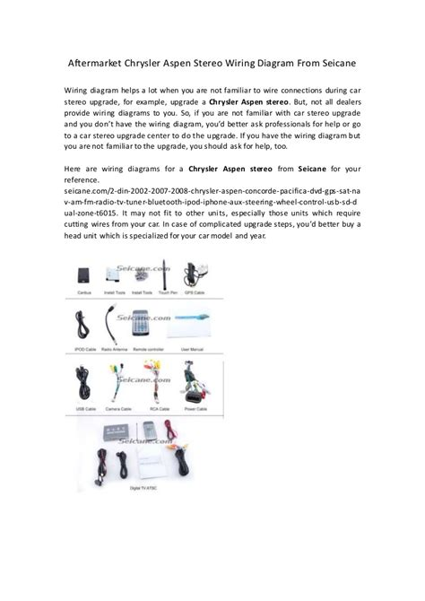 Aftermarket Wiring Diagram by Aftermarket Chrysler Aspen Stereo Wiring Diagram From Seicane