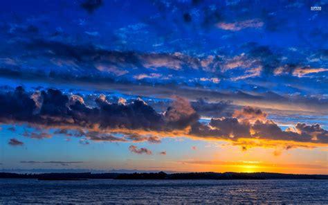 Amazing Blue Sky Ocean Sunset Wallpapers  Amazing Blue