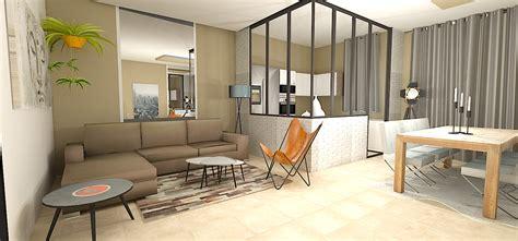 chambre style loft un salon une verrière e interiorconcept