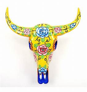 Deco Crane De Buffle : cr ne t te de buffle d coration murale boh me mexicaine achat ~ Melissatoandfro.com Idées de Décoration