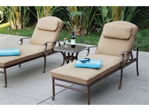 darlee patio furniture quality darlee outdoor living florence cast aluminum chaise lounge