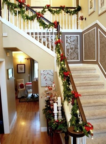 Garland For Banister by Garlands For Stairs Fireplaces And Lights