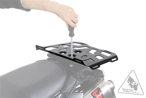 motorcycle luggage rack sw motech release soft luggage carrier for alu rack