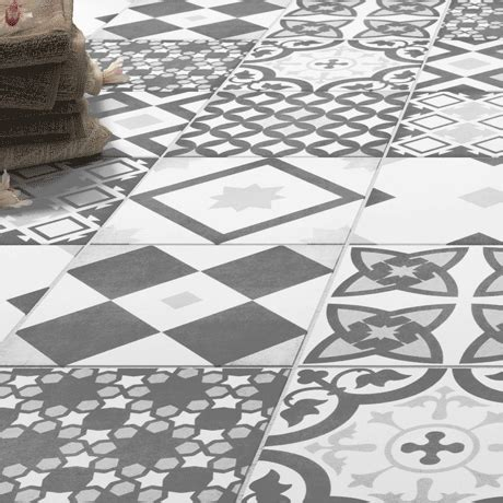 shop  vibe grey patterned wall  floor tiles