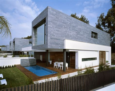architectural house 6 semi detached homes united by matching contemporary