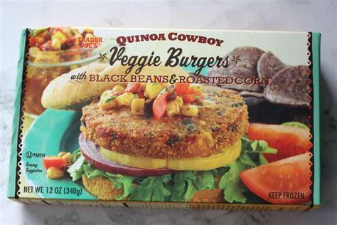 trader joe burgers veggie quinoa cowboy freezer section favorites joes vegetables