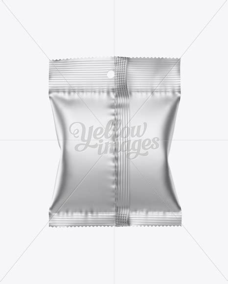 — matte plastic snack tube mockup. Matte Metallic Snack Package Mockup - Back View in Flow ...