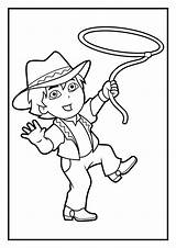 Genie Coloring Bottle Diego Pages Drawing Marquez Cowboy Dora Template Printable Getdrawings sketch template