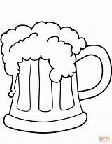 Beer Coloring St Patrick Pages Printable Patricks Template Supercoloring Drawings Cool Styles Pattys Snoopy sketch template