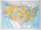 United States Map Central America Map 1947 Large 2 Sided Book