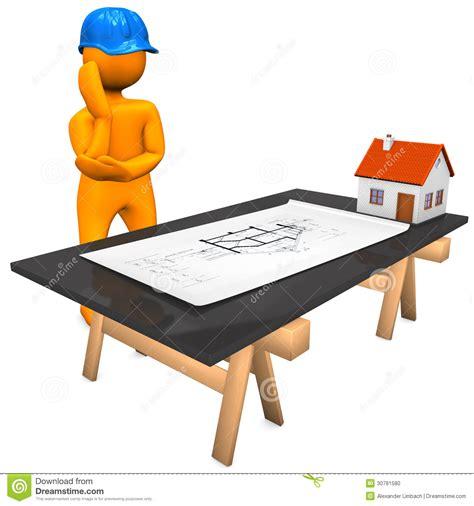 orange table l architekt construction plan stock abbildung bild 30781580