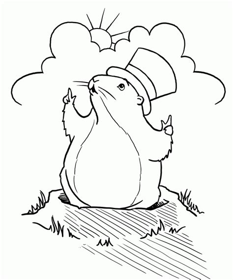 groundhog day coloring pages printable coloring pages of groundhogs coloring home
