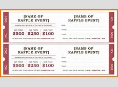 Raffle ticket templates Authorization Letter Pdf