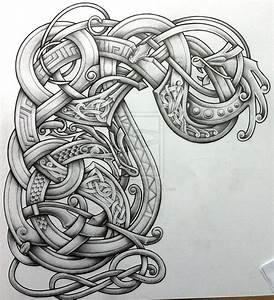Tatouage Loup Celtique : stylised arm and chest design by tattoo design graphismes tatouage tatouage viking et ~ Farleysfitness.com Idées de Décoration