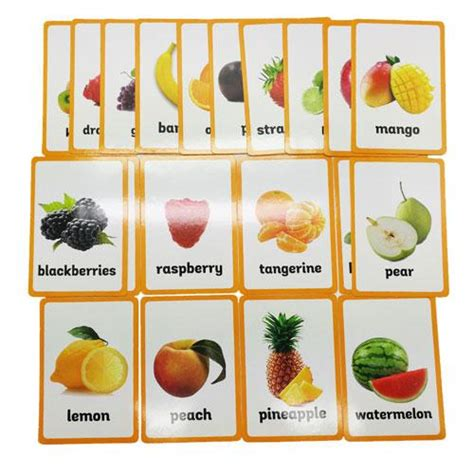 montessori fruits nomenclature cards montessori
