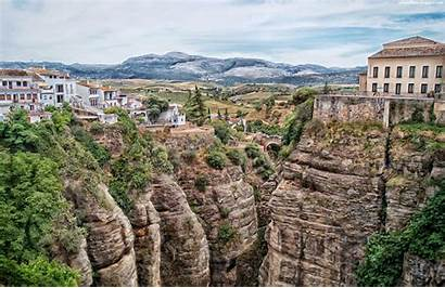 Spain Ronda Spanish Malaga Cliffside Desktop Wallpapers