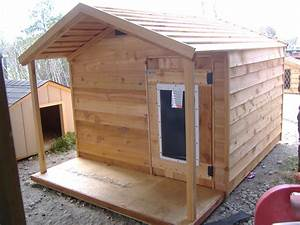 Custom ac heated insulated dog house for Insulated dog houses for large dogs