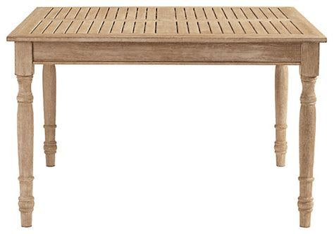 ceylon teak dining table square 48 inch farmhouse