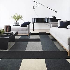 tapis de salon moderne 42 idees qui vont vous charmer With tapis de salon moderne