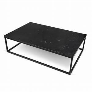 Table Basse Noir : temahome table basse 120cm prairie marbre noir m tal noir ~ Teatrodelosmanantiales.com Idées de Décoration