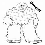 Coloring Smallfoot Pages Sheets Printable Movie Gwangi Bigfoot Yeti Boys Scribblefun Meechee Migo Adults Night Fluffy Cartoon Fleem Getcoloringpages sketch template
