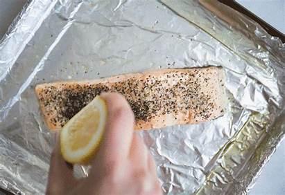Salmon Oven Bake Cook Lemon Greatist Gifs