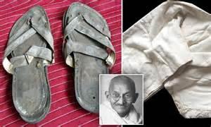 Gandhi U0026 39 S Sandals With Special Heel To Heighten 5ft 4in Indian Hero Emerge For Sale