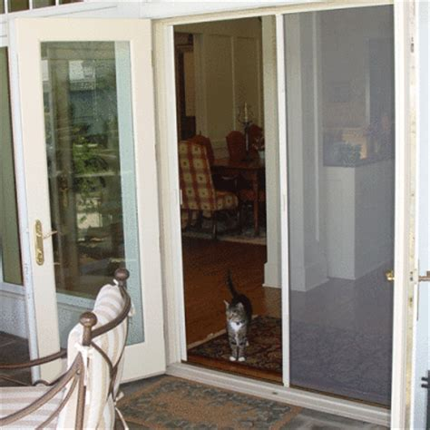 outswing patio doors with screens retractable screen doors air tech screen products