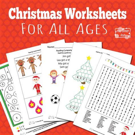 christmas worksheets  kids itsy bitsy fun