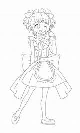 Maid Outlines Deviantart sketch template