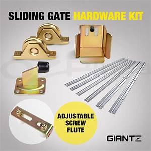 Sliding Gate Hardware Accessories Kit Track Wheels Stopper