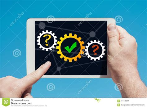 bac a shoing holding a tablet device showing success concept in blue bac stock image image of bend