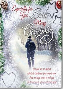 Merry Christmas Son Greeting Cards By Loving Words