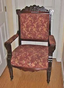 Set Of 4 Antique 1800's Eastlake Victorian Upholstered