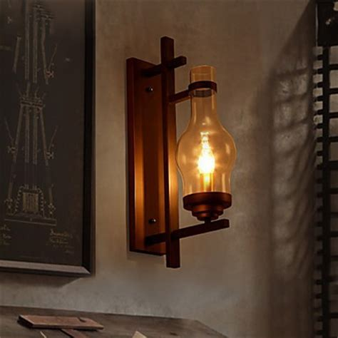 Vintage Sconce Lodge Retro Iron Wall Lamp Candle Light