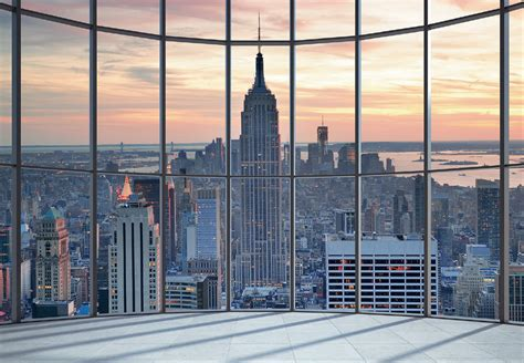 york empire state building wall mural buy