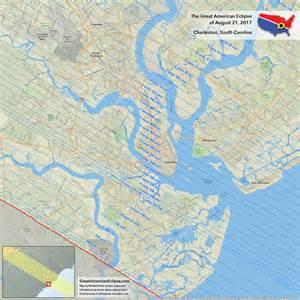 2017 Eclipse Path South Carolina Map