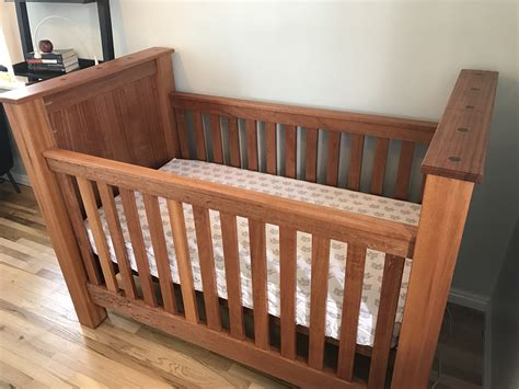 ana white mahogany farmhouse crib diy projects