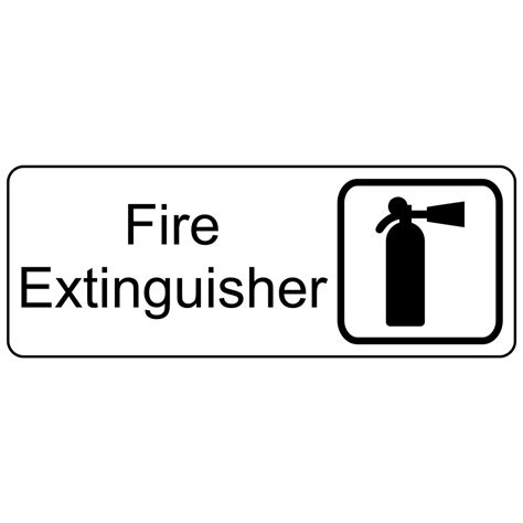 Extinguisher Mounting Height Osha by Extinguisher Engraved Sign Egre 345 Sym Blkonwht