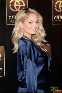 Debby Ryan Hits Up The Celebrity Experience In Chic Blue