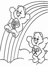 Coloring Rainbow Pages Care Trout Bears Bear Sliding Template Getcolorings Printable sketch template