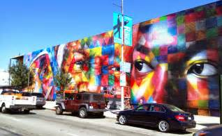 kobra new mural on n highland ave in los angeles usa