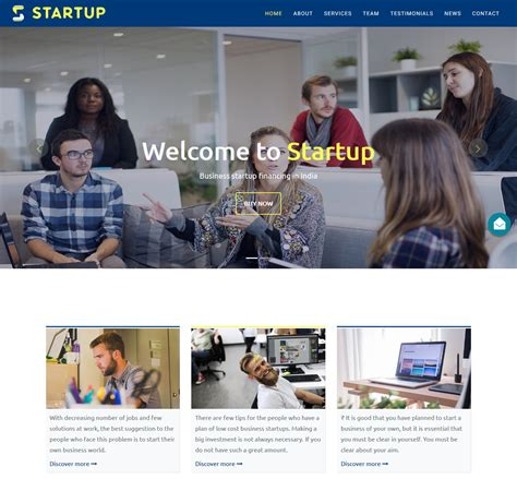 top startup template bootstrap 40 top free premium business bootstrap website