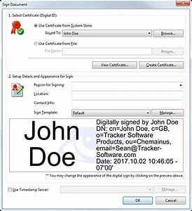 tracker software products knowledge base can i use With digital signatures for pdf documents