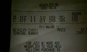 Lottery Ticket Winning Numbers