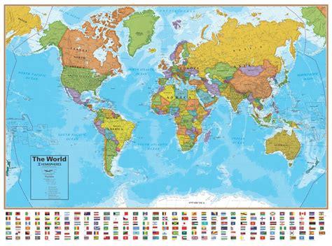 Hemispheres Blue Ocean Series Wall Maps
