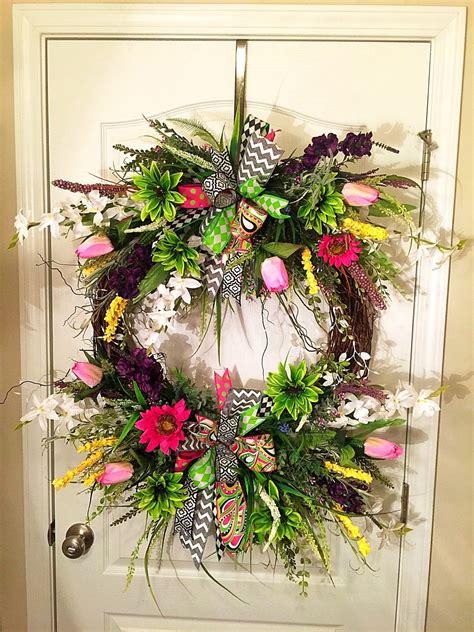 wreath outdoor spring wreath summer wreath front door wreath outdoor